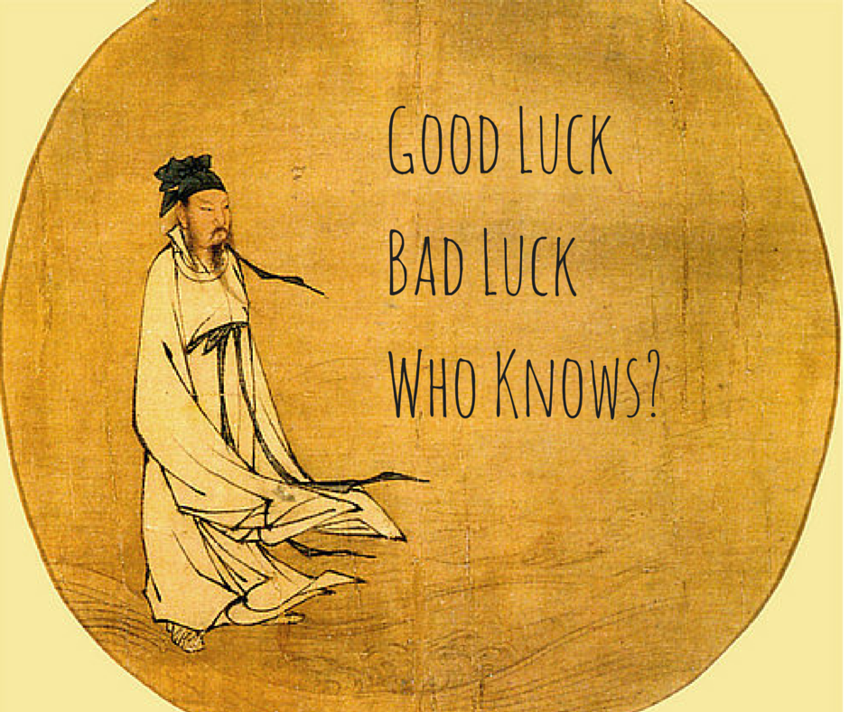 Good luck bad luck who knows