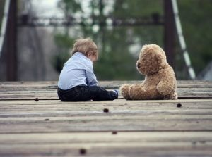 Boy with Teddy Bear for emotional triggers