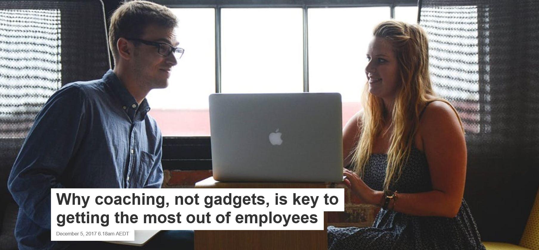 Why Coaching no gadgets